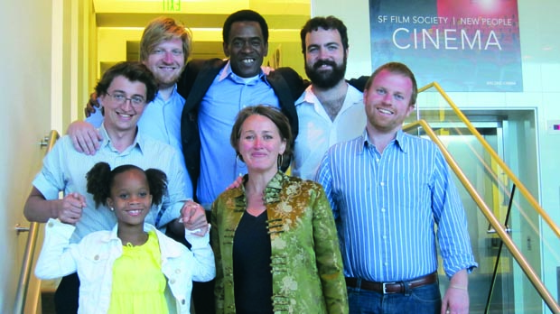 Michele Turnure-Salleo (center) with the team behind Beasts of the Southern Wild