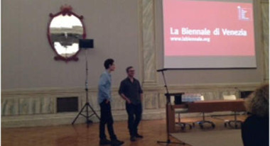 Memphis' John Baker and Tim Sutton at the Biennale di Venezia Pitch