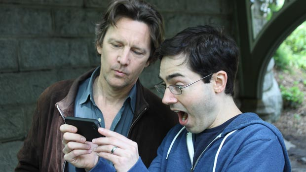 Mark Malkoff (right) with Andrew McCarthy