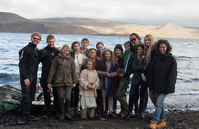 The cast and crew on the last day of the shoot!