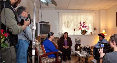 """Behind-the-scenes shooting """"Councilwoman Castillo"""""""