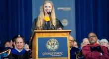 Brit Marling at Georgetown University.