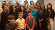 Cast for the New Voices! Screenplay Reading series in the greenroom.