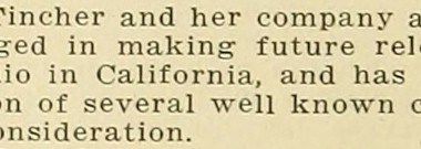 References to Fay Tichner's production company are scarce in the available sources. Here is one from Moving Picture World, June 1918.