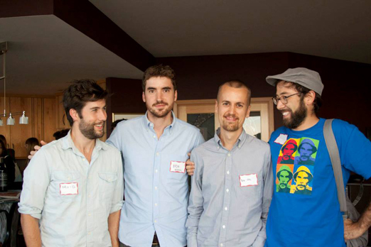 The boys picture: David Felix Sutcliffe, Ben Nabors, Pete Ohs and Rodrigo Reyes