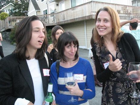 The girls picture: Lauren Wolkstein, Eliza Hittman and Josephine Decker.