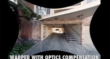 Unwarping the image with the Optics Compensation Effect