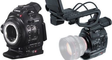 Canon C100 (left) and C300