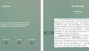 "Wang's ""Post Script"" iBook"