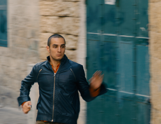 Omar (Adam Bakri) in Hany Abu-Assad's fine. Photo courtesy Adopt Films.