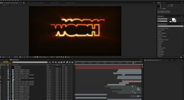 After Effects comp