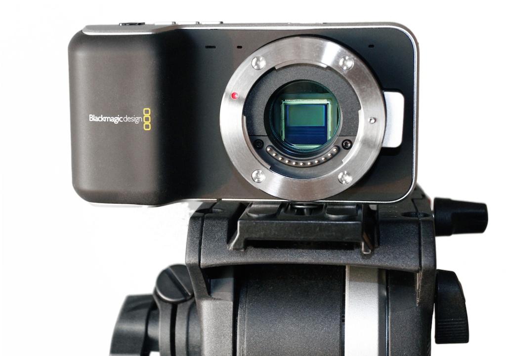 Blackmagic Design Micro Four Thirds Pocket Cinema Camera with S16-sized sensor.