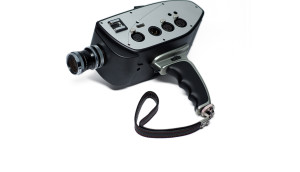 Digital Bolex D16 with pistol grip and hand strap.
