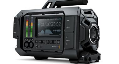 Blackmagic URSA, showing audio panel