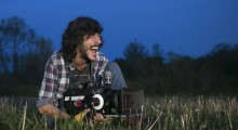 Uruguayan cinematography intensive student Diego Pavese on a night shoot (Photo by Christian Tyler Randolph)
