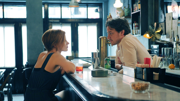 Jessica Chastain and James McAvoy in The Disappearance of Eleanor Rigby