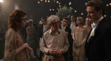 Woody Allen on the set of Magic in the Moonlight
