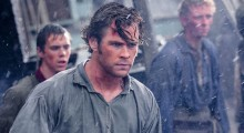 Sam Keeley, Chris Hemsworth and Edward Ashley in In the Heart of the Sea (Photo by Jonathan Prime)