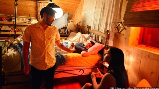 Christopher Makoto Yogi on set at the Directors Lab