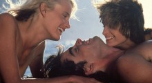 Daryl Hannah, Peter Gallagher and Valérie Quennessen in Summer Lovers