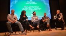 Left to right: Ari Taub, Ferne Pearlstein, Adam Piotrowicz, Frank DeMarco, Scott Macaulay (Photo: Kelsey Doyle)