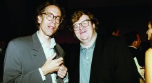 John Pierson and Michael Moore