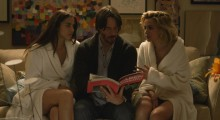 Ana de Armas, Keanu Reeves and Lorenza Izza in Knock Knock