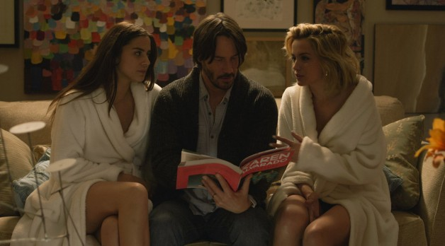 Ana de Armas, Keanu Reeves and Lorenza Izza in Knock Knock