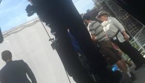 Bethany Rooney on set