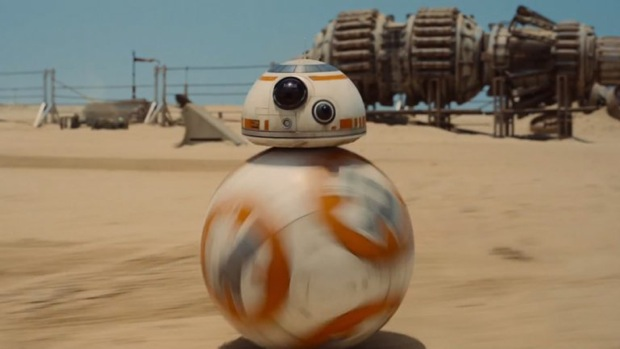 BB-8, the lovable new robot star of Star Wars: Episode VII — The Force Awakens