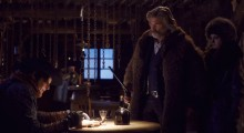Michael Madsen, Kurt Russell and Jennifer Jason Leigh in The Hateful Eight