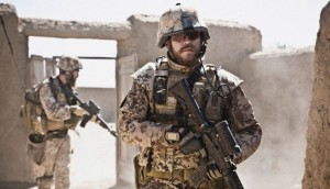 Pilou Asbaek, right, in A War