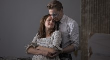 Elisabeth Moss and Tom HIddleston in High-Rise (Photo courtesy of Magnolia Pictures)