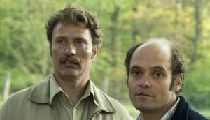 Mads Mikkelsen and David Dencik in Men & Chicken
