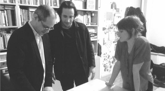 Caveh Zahedi, Sam Stillman and Eleanore Hendricks on set (Photo courtesy of Peter Rinaldi)