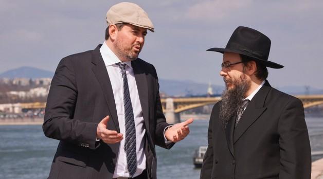 Csanad Szegedi and Rabbi Boruch Oberlander in Keep Quiet