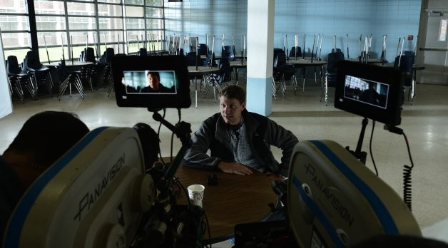 Jeff Nichols on the set of Midnight Special