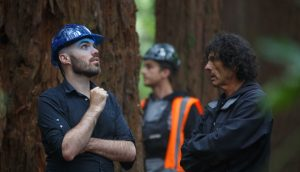 David Lowery and DP Bojan Bazelli on the set of Pete's Dragon (Photo by Matt Klitscher, courtesy of Disney Enterprises Inc.)