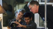 Hannah Chapman, DP Aravind Ragupathi and 1st AD Jim McQuaid on set of Memory of a Kiss
